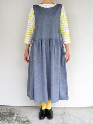 ina(イナ)リネンシャンブレー・ジャンバースカート