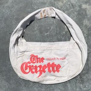 60's 70's The Gazette ニュースペーパーバッグ コットン キャンバス ホワイト OLD 希少