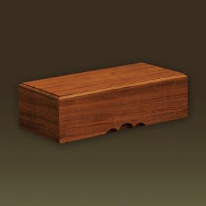 化粧木箱 ブビンガ(アフリカ/熱帯アメリカ産)【手作り/木の箱】