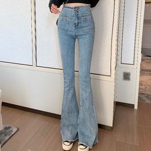 【ボトムス】ハイウエストファッションカジュアル2色デニムパンツ27925346