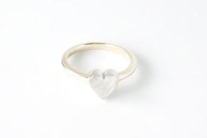 heart boxring -Silver + K18-