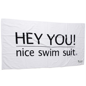 HEY YOU ! Beach Towel
