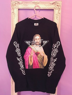 Jesus long sleeve Tshirt BLACK