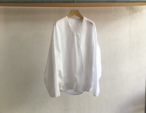 "brusco.k""U neck turtle smock white(cotton)ブロード"""