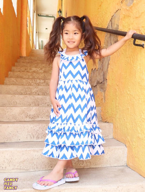 Zigzag summer dress(blue)