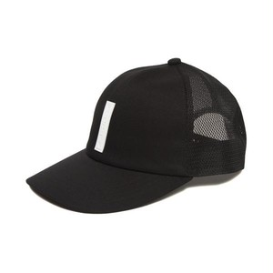 FULL BK SILICON TAG MESH CAP (BLACK)