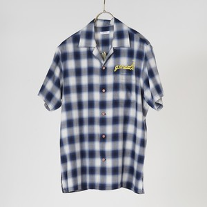 S/S OPEN COLLAR SHIRTS (BLUE) / GAVIAL