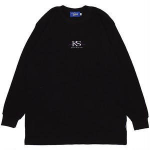KS WAFFLE L/S TEE (BLACK)