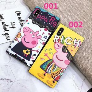 ORIGINAL  iPhone7/8 plus デコ ケース 可愛い ペッパピッグ アイフォン6s保護ケース おしゃれ 放熱 強化ガラス 人気