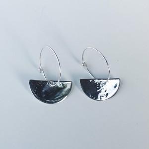 accessories mau  半円フープピアス silver