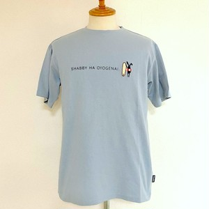 SHABBY HA OYOGENAI T-shirts Sax