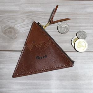 三角コインケース(ブラウン)