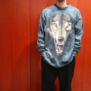 "THE MOUNTAIN ""wolf face"" tie dye L/S tee"
