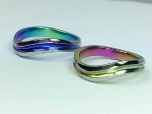 ジルコニウム カラーリング ウエーブ<S-2> NAMIMA