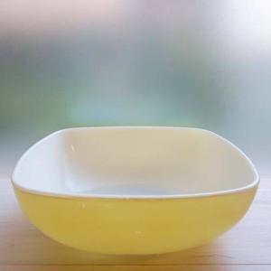 オールドパイレックス 大きめの四角い深皿/Corning社