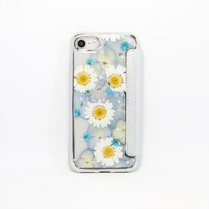 【手帳型:7,8対応】押し花 iPhone case