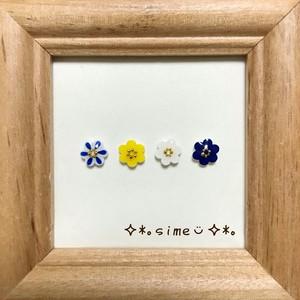 北欧 ❁小さいお花のピアスセット❁柄ミックス①