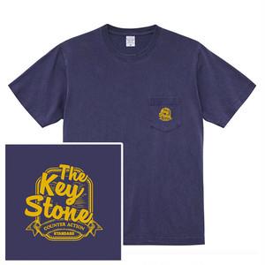 STANDARD LOGO ポケットTシャツ / ヴィンテージネイビー