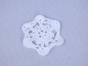 【ayumu's knitting hose(Provisional)】雪の結晶(小)
