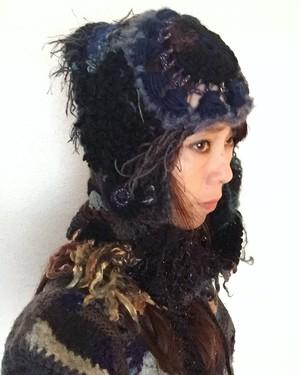 フード型帽子