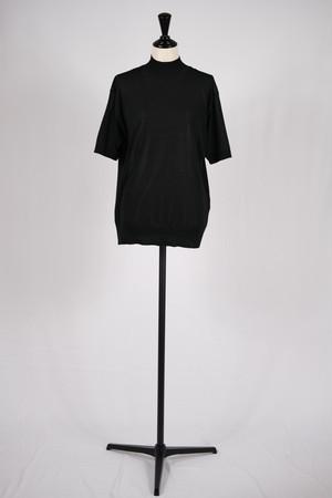【Needles】s/s mock neck sweater-black