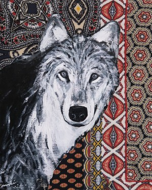Wolf / Mexican cloth / 04