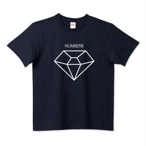 Number8(ナンバーエイト) BIGホワイトダイヤモンドTシャツ(ネイビー )キッズ レディース メンズ