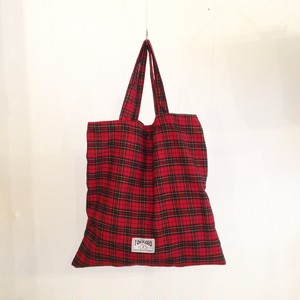 45×45 flat bag Tartan check (Red×Black×yellow)