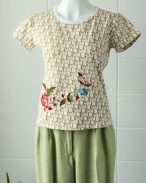 Christian Dior trotter embroidery tshirt