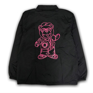BB BEAR COACH JACKET /BLACK x PINK