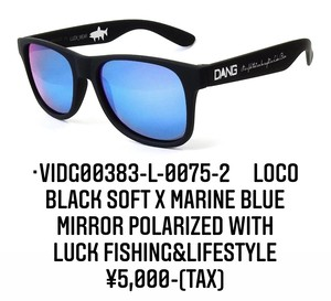DANG SHADES vidg00383-l-0075-2 LOCO Black Soft X Marine Blue Mirror Polarized