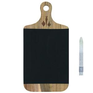 カッティングボード型ブラックボード&チョーク #355