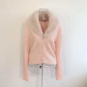 fur cardigan(Pink)