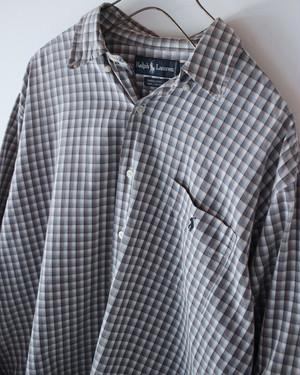 90s RalphLauren 100% cotton check shirts