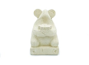 蛙の置物 バリストーンインセンスホルダー パラスストーン石彫 香立てフラワーカエル