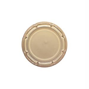 Koyo ラフィネ リムプレート 皿 約16cm シナモンベージュ 15922108