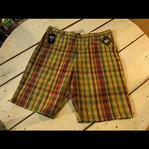 stussy MFG Plaid Short