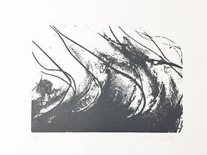 """107 シルクスクリーン """"四季 夏(グレイ)"""""""