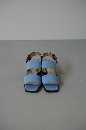 SUZANNE RAE 2 Strap Sandal Blue/Brown