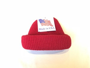 KNIT CAP MADE IN USA - RED