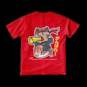 <レッドTシャツ 背面>応援鯛みーちゃん