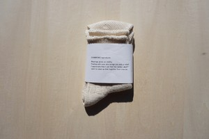 organic cotton socks [off white]