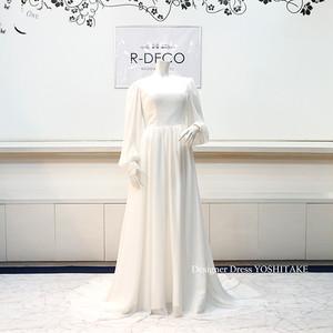 ウエディングドレス 白シフォンドレス ブライダル二次会用ドレス