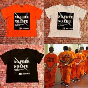 【全3色】NO FREE NO LIFE Tシャツ2020/#囚人服 #prisoner