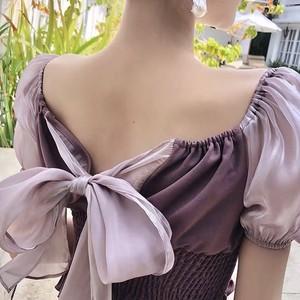 big flare ribbon blouse