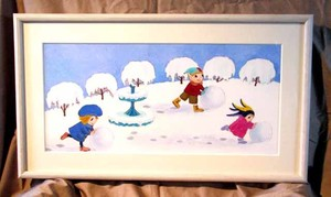 絵「雪の日」