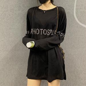【tops】合わせやすいレトロアルファベットTシャツ 24227647