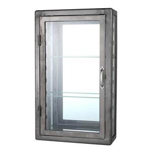 【115-312RW】Wall mount glass cabinet raw #ウォールキャビネット #インダストリアル #ガレージ