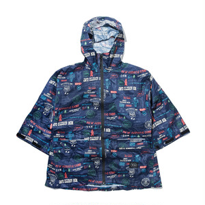 [KiU×NAC]SLEEVE RAIN PONCHO FOR KIDS / NAVY