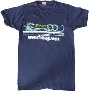 80's HARVEY WOODS WONDERLAND Dragon Print T-Shirts(黒)